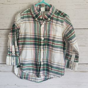 Baby Gap Flannel Plaid Shirt sz.2